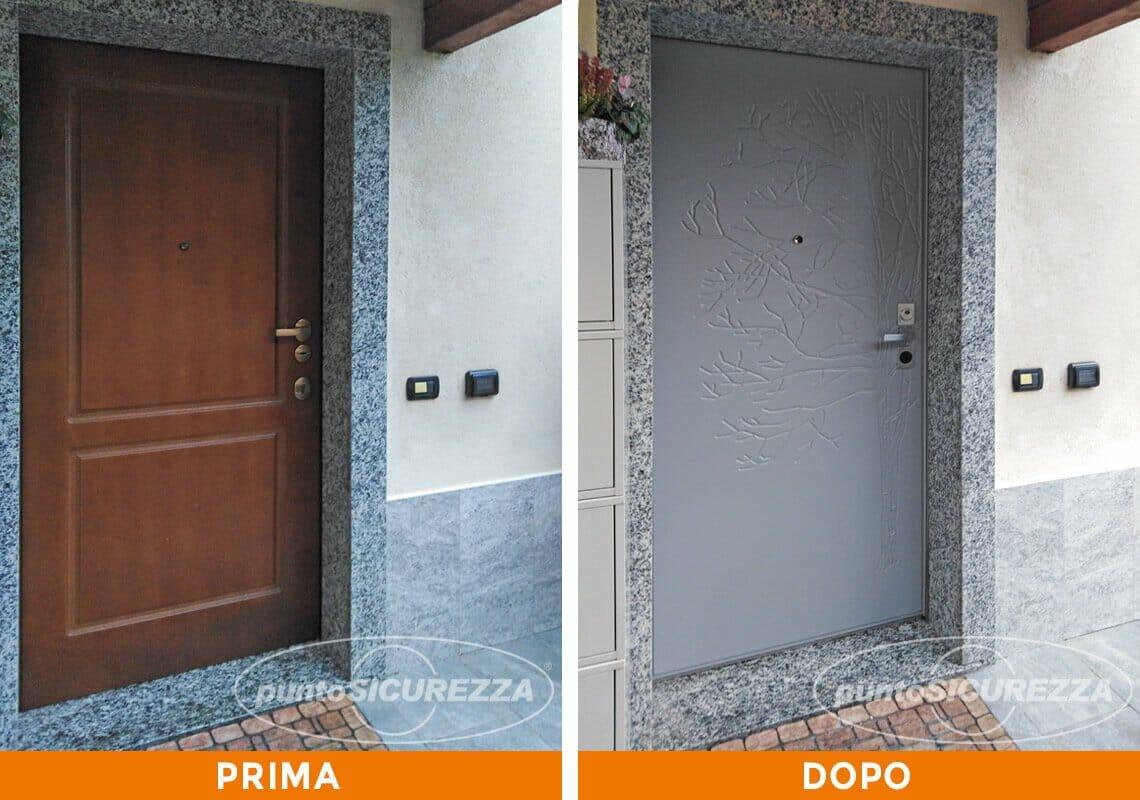 Sostituire Pannello Porta Blindata installazione porta blindata in pvc lecco - punto sicurezza casa
