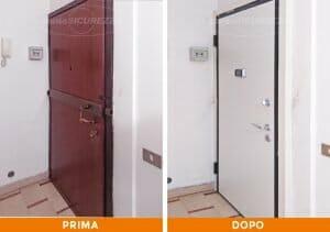 Installazione Porta blindata bicolore a Como