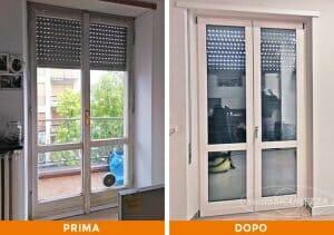 Installazione Infissi alluminio bianco a Monza