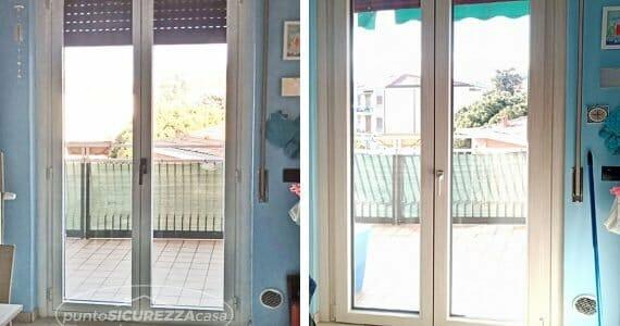 Installazione serramenti PVC bicolore a Como
