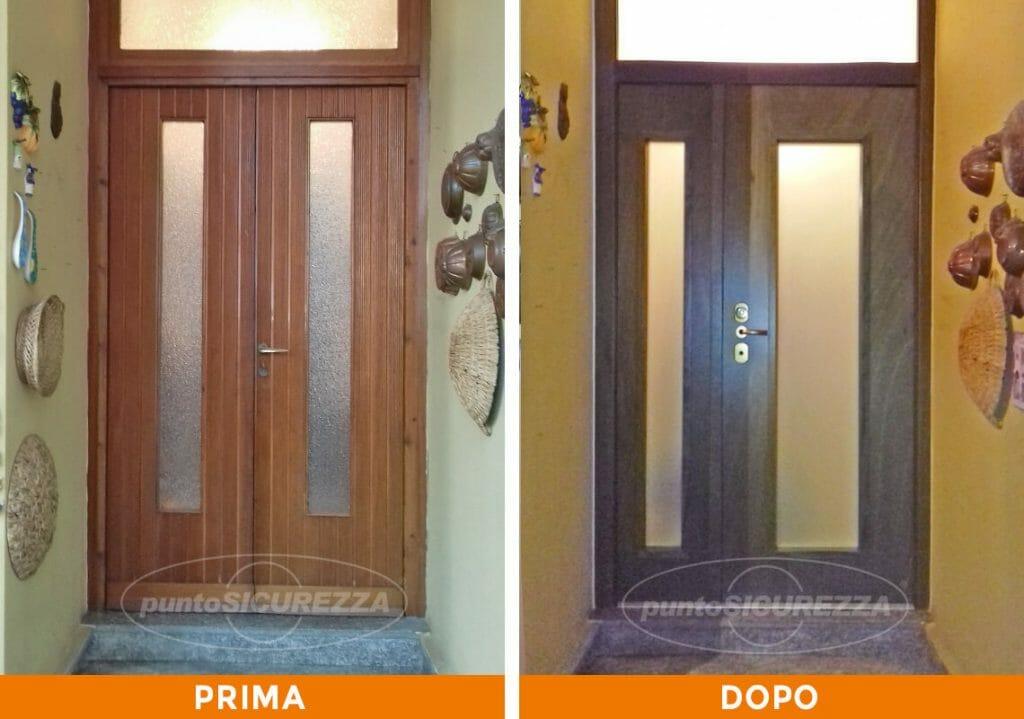 Punto Sicurezza Casa - Installazione Porta blindata con vetro a Como