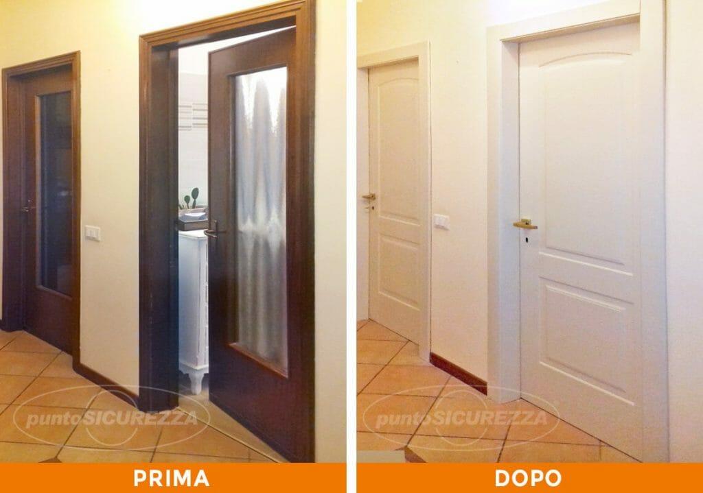 Punto Sicurezza Casa - Installazione Porte interne avorio a Bergamo