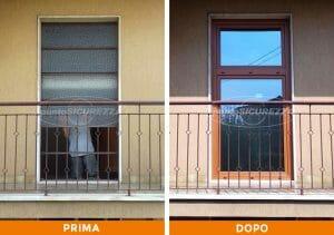 Installazione Infissi pvc effetto legno Bergamo