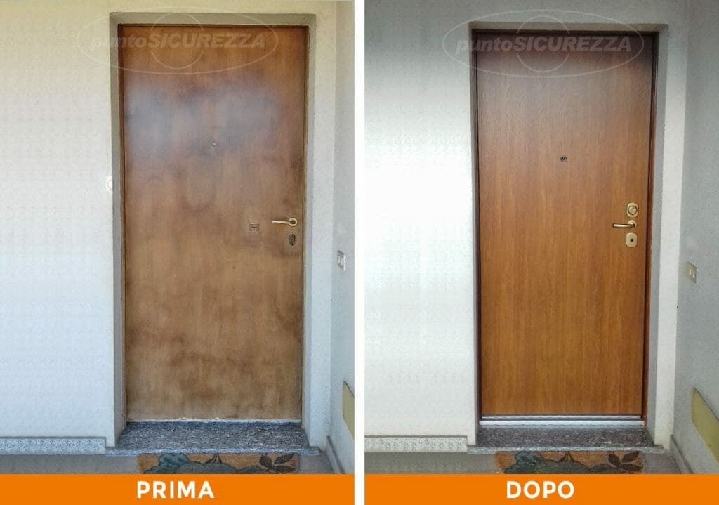 Punto Sicurezza Casa - Installazione Porta blindata esterno pvc Lecco