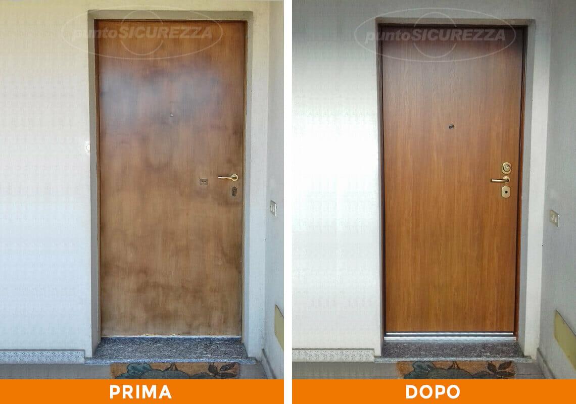 Sostituire Pannello Porta Blindata installazione porta blindata esterno pvc lecco - punto